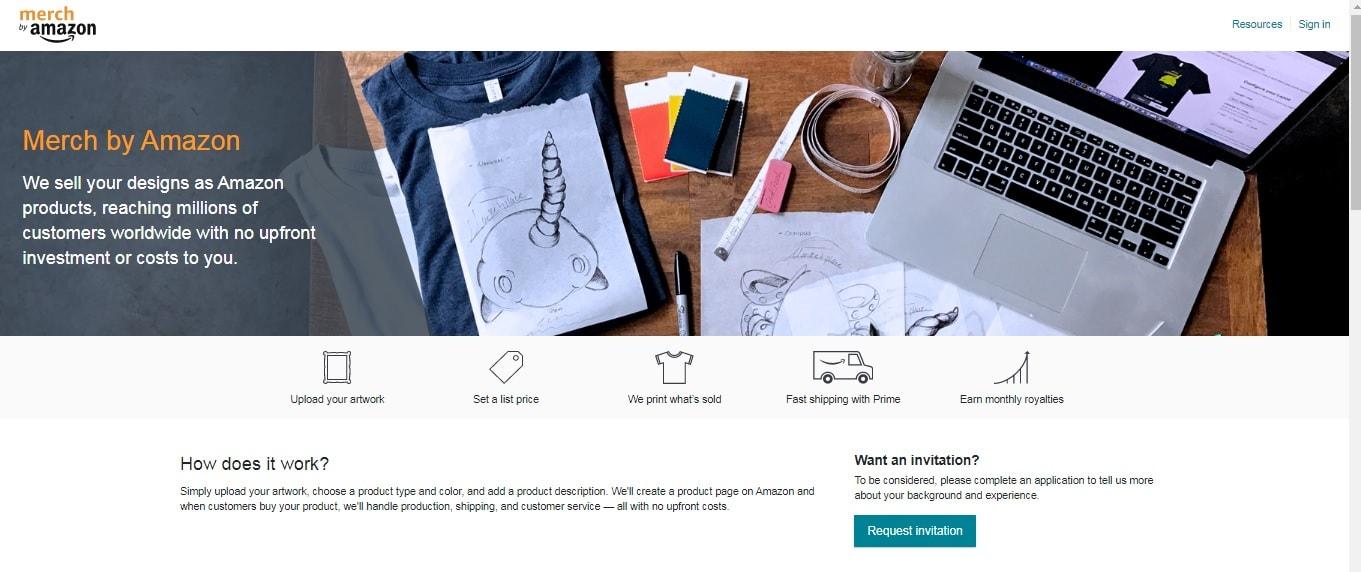 Merch By Amazon anmelden - Request invitation