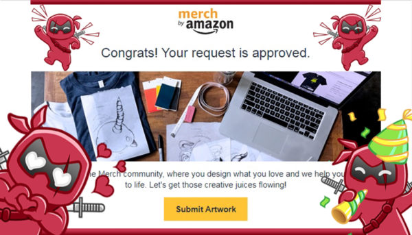 Merch By Amazon anmelden - Request approved